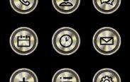 gold chrome icons