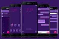 purple neon flat