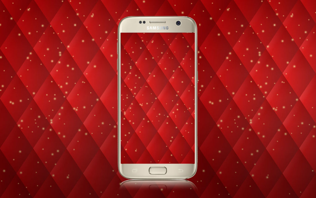 Red Diamond Pattern Wallpaper