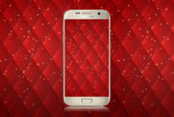 Red Diamond Pattern Wallpaper