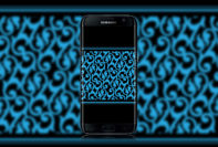 black-and-blue-wallpaper-wallpaper