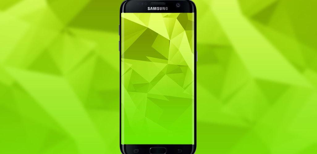 green-polygon-wallpaper