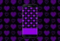 hot purple hearts wallpaper