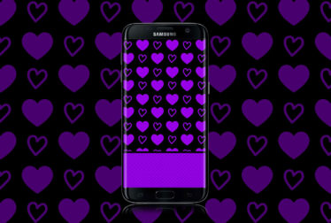 hot purple hearts wallpaper