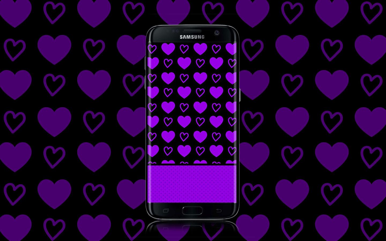 Purple And Black Hearts Wallpaper: Hot Purple Hearts Wallpaper