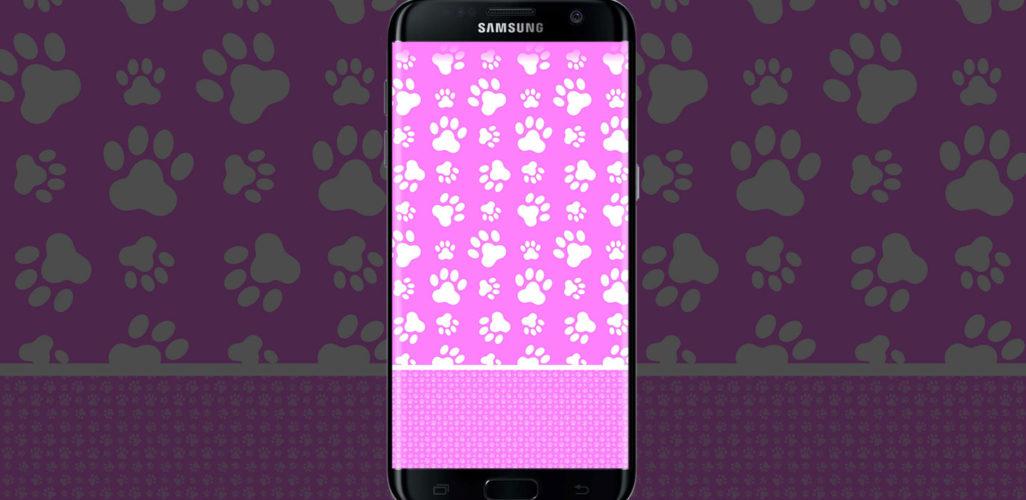 light-pink-Paws-wallpaper