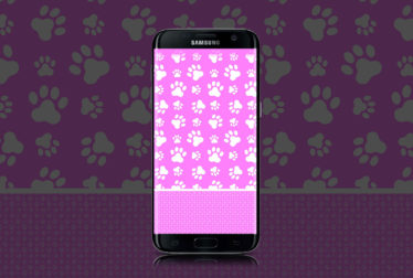 light-pink-Paws-wallpaper