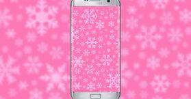snowflakes-pink-wallpaper