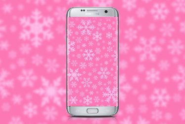 snowflakes-pink-wallpaper
