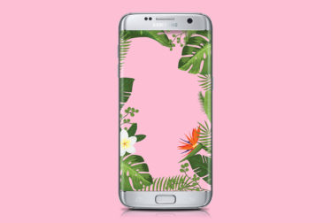 tropical flowers pink wallpaper