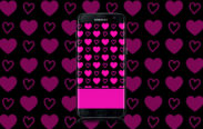 hot pink hearts wallpaper