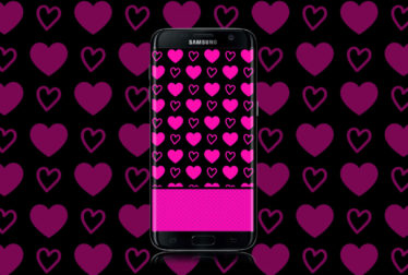 hot pink hearts wallpaper