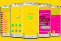 Yellow, Pink, and Lime Neon Flat
