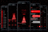 Red Neon Christmas Tree