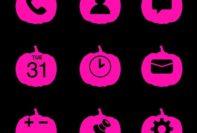 Hot Pink Halloween Pumpkin Icons