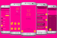 Pink and Yellow Neon Flat