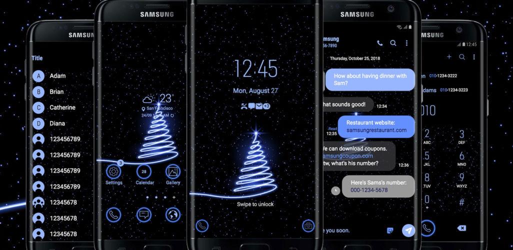 Blue Neon Christmas Tree