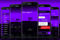 Digital Beach Purple