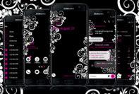 Floral Black (Pink)